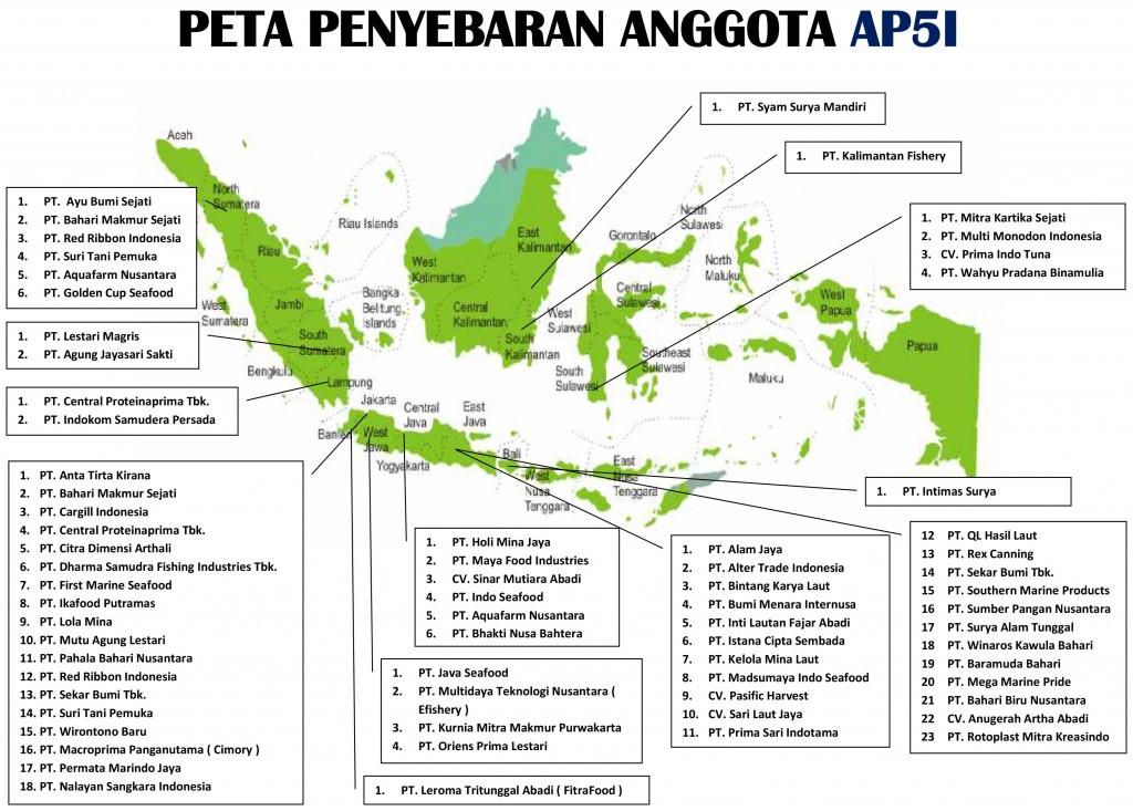 Peta Penyebaran Anggota AP5I - Update Januari 2020