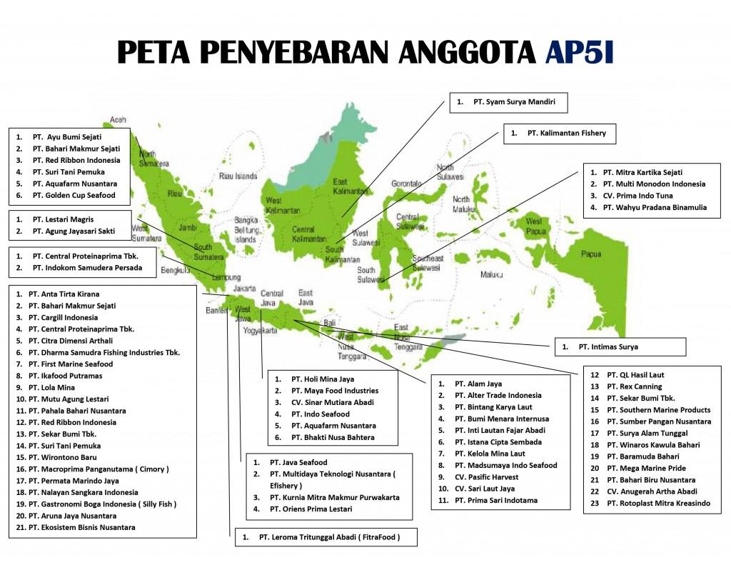 Peta Penyebaran Anggota AP5I - Update Mei 2020