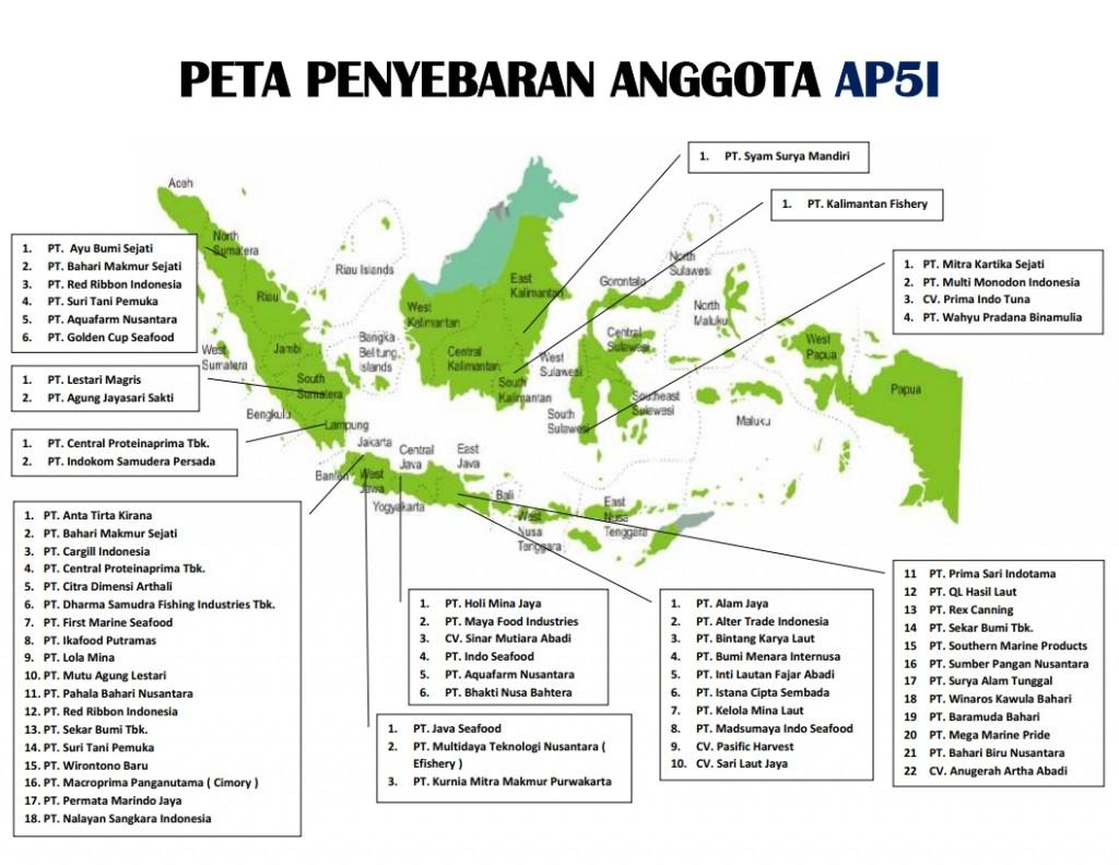 Peta Penyebaran Anggota AP5I - Update September 2019
