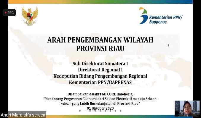 FGD Program Pendampingan Bagi Pemerintah Daerah Untuk Mendorong Pergeseran Ekonomi Dari Sektor Ekstraktif Menuju Sektor-Sektor Yang Lebih Berkelanjutan – 1 Okt 2020