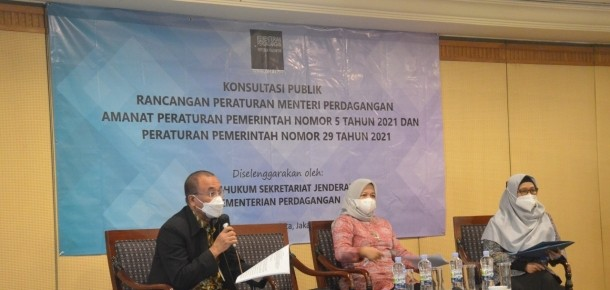 Konsultasi Publik Rancangan Permendag Amanat PP No. 5 dan 29 Tahun 2021 – 17 Maret 2021