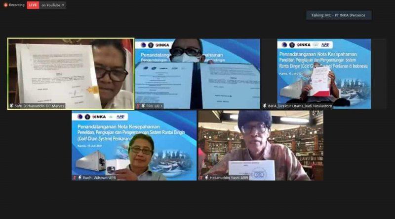 Penandatangan Nota Kesepahaman tentang Penelitian, Pengkajian dan Pengembangan Sistem Rantai Dingin ( Cold Chain System ) Perikanan di Indonesia – 15 Juli 2021